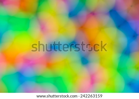abstract background  of  colorful plastic tube out of focus