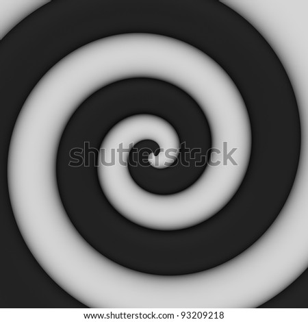 Abstract background of contrast black-and-white spiral swirl - stock photo