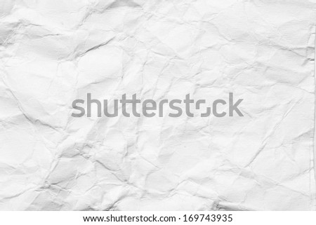 abstract background of crumpled white paper - stock photo