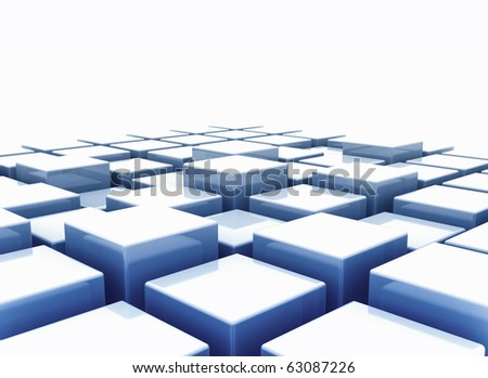 Abstract  background of 3d blocks
