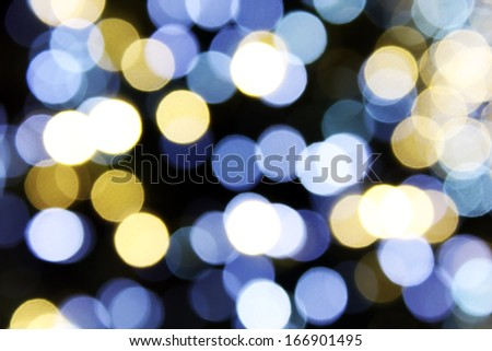 Abstract background of defocused Christmas lights - stock photo