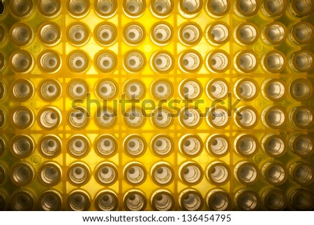 Abstract background of disposable tips for automatic pipette