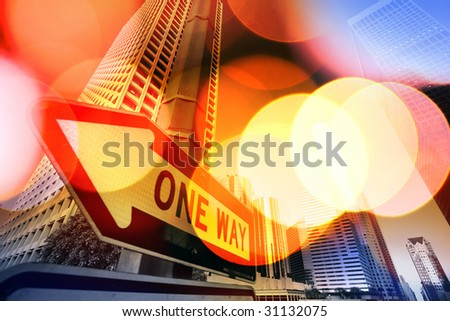 Abstract background of Downtown Los Angeles, California, USA - stock photo