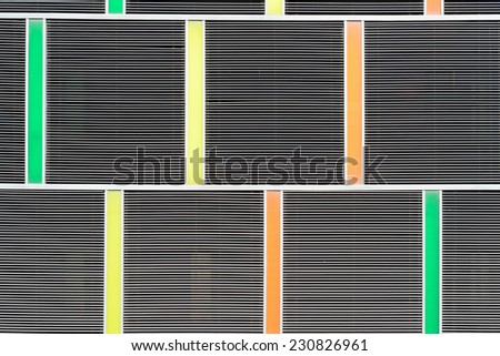 Abstract background of exterior building (Shielded from the sun) / Exterior building - stock photo