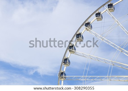Abstract background of Ferris Wheel with Blue Sky