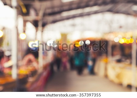 Abstract Background Of Flea market - stock photo