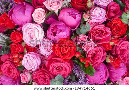 Abstract background of flowers. - stock photo