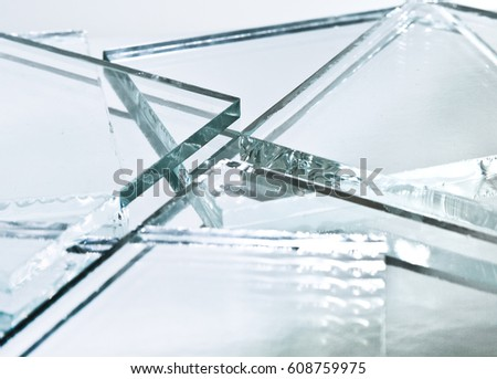 Abstract background of glass in the rays of light