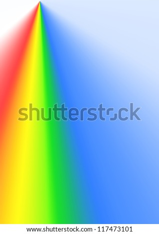 abstract background of glowing color spectrum around lightning - stock photo