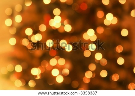 Abstract Background of Gold Lights - stock photo