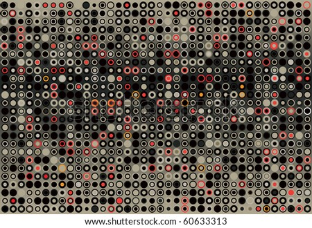 Abstract background of gray and red dots