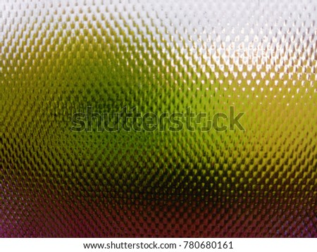 Abstract background of Green, Red and White. The Glass texture with green Floral background and evening sunset light in background. The Save Earth Concept.