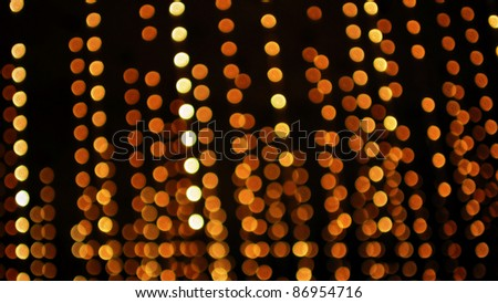 Abstract Background of Hanging Defocused Lights - stock photo