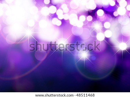 Abstract background of holiday lights - stock photo