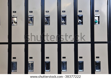 Abstract background of lockers in university - stock photo
