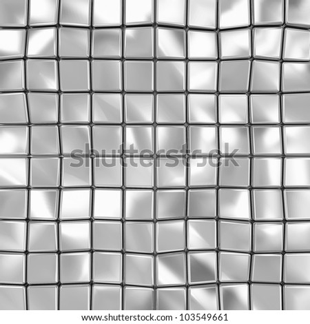 Abstract Background of Metal Cubes - stock photo