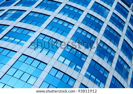 Abstract background of modern glass skyscraper - stock photo