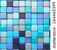 Abstract background of multicolored colorful blue shades cubes - stock photo