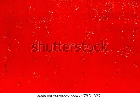 abstract background of old red paint on the metal surface - stock photo