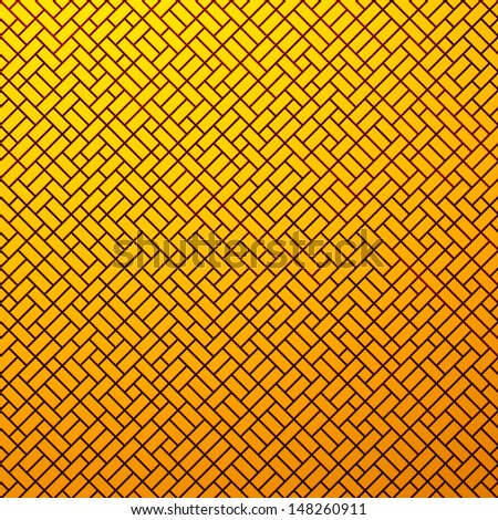 Abstract background of orange flat strips - stock photo