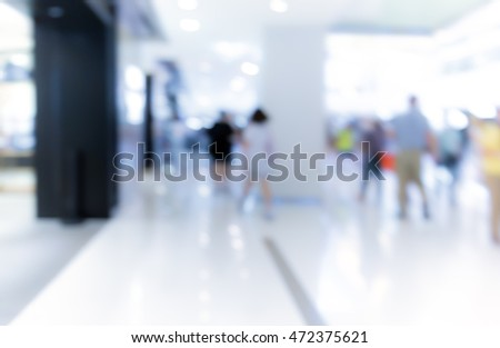 Abstract background of people on shopping mall
