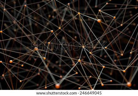 Abstract background of pipes and connections. - stock photo