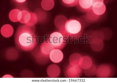 Abstract background of red blurred lights - stock photo