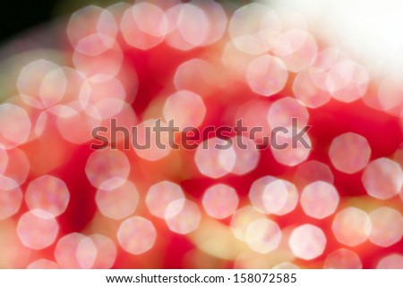 Abstract background of red bokeh - stock photo
