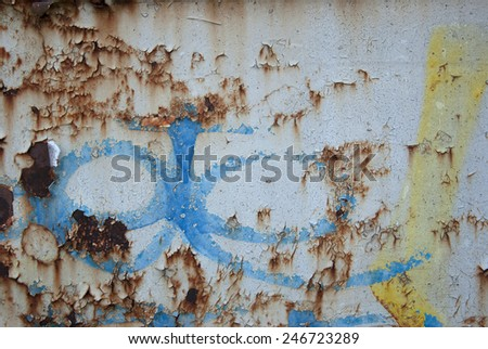 Abstract background of rusted metal surface