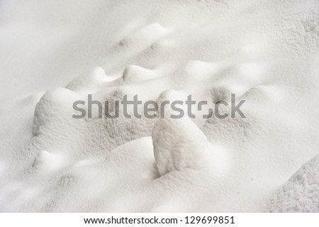 Abstract background of snow with texture - stock photo