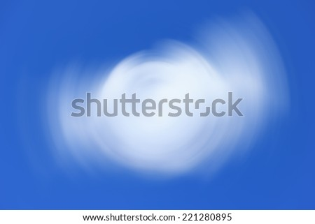 Abstract Background Of Spin Circle Radial Motion Blur in light blue and white