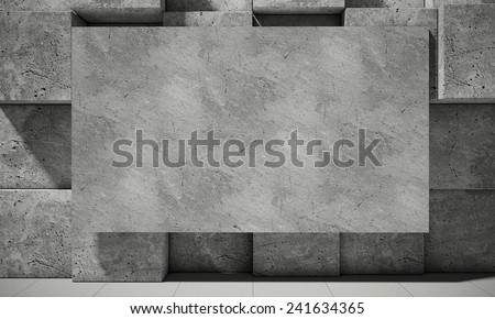 Abstract background of the concrete, 3d illustration - stock photo