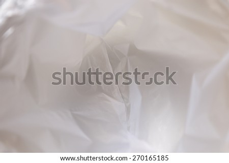 Abstract background of the inside of a  plastic bag - stock photo