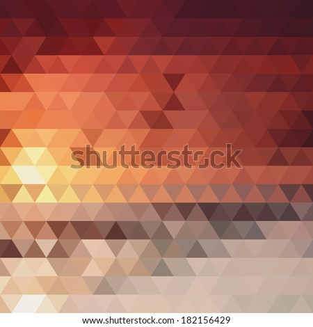 abstract background of the triangles  fiery color - stock photo