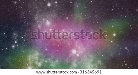 abstract background of universe bodies - stock photo