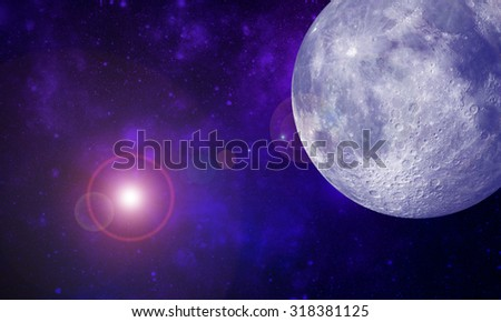 abstract background of universe bodies