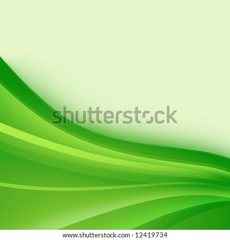 Abstract background of wavy green strips