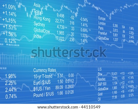 Abstract Background of World Currencies - stock photo