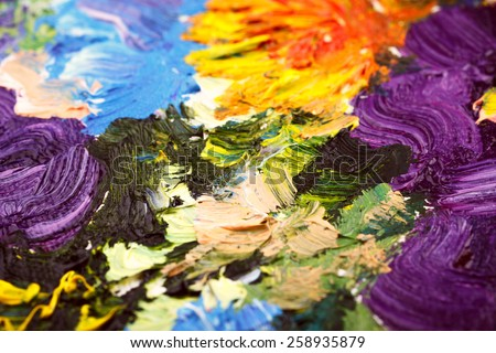 Abstract background. Oil painting - flowers - stock photo