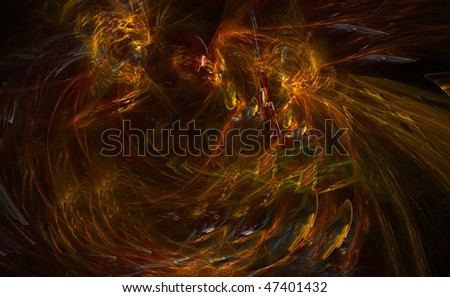 Abstract background  on base fractal for booklet, postcards and presentations