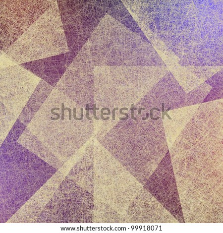 abstract background or purple background, white parchment texture background on purple paper with geometrical shapes in art design layout - stock photo