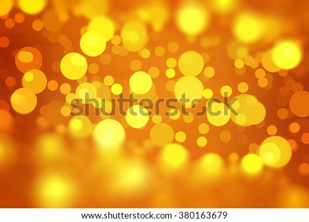abstract background orange bokeh circles. Beautiful background with particles.