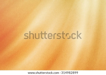 Abstract background, orange gradient color curve line with grunge paper  texture - stock photo