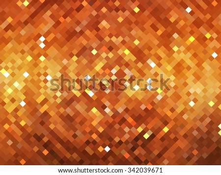 abstract background. orange mosaic - stock photo