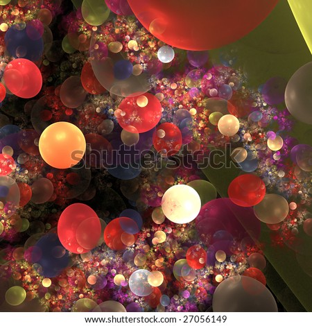 Abstract background. Orange - red palette. Raster fractal graphics.