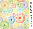Abstract background - paint color circles and dots - stock photo