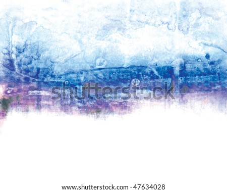 abstract background painting with acrylics and mix media. SELF MADE. - stock photo