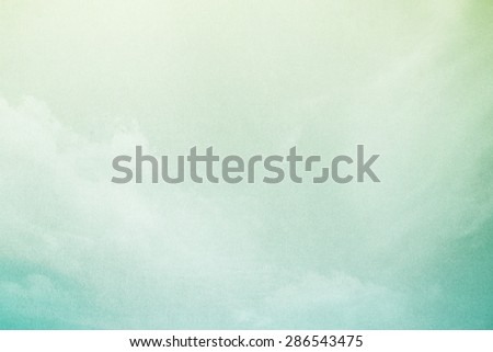 abstract background, pastel gradient color with grunge paper texture and cloudscape - stock photo