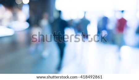 Abstract background - people shopping and walking