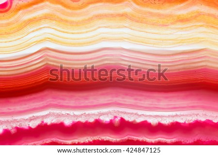 Abstract background - pink agate slice mineral - stock photo